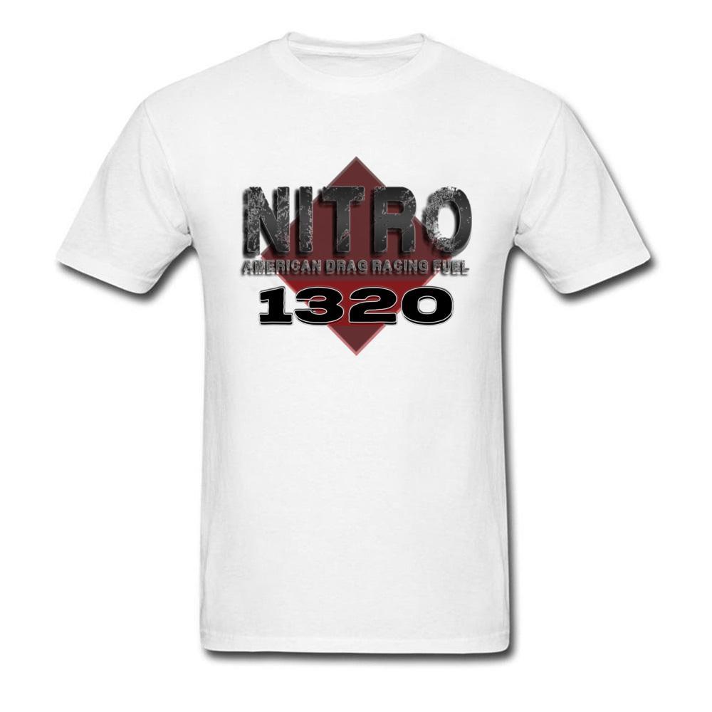 100% algodón camiseta para hombre Nitro Drag Races combustible 1320 diseño camiseta familiar gráfico O-cuello Tops camisas manga corta ropa