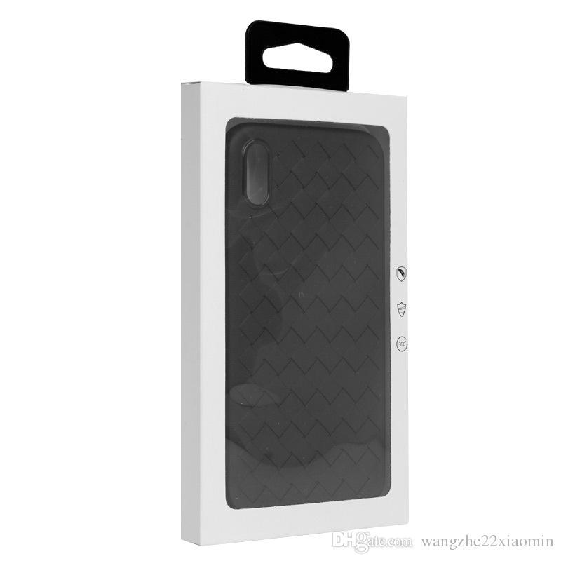 Fai da te Logo personalizzato pacchetto di carta per iPhone 8 8 più sottile custodia Nuovo arrivo regalo al dettaglio bianco Imballaggio per iPhone X Custodia in silicone