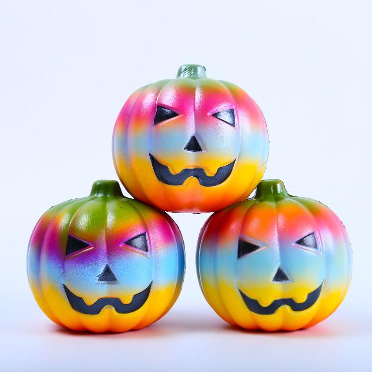 Halloween Squishy Weiche Niedliche Kürbis Cartoon Spaß Stress Squishies Squeeze Friet Kit Squishy Langsam Steigenden Squeeze Toy Phone Straps