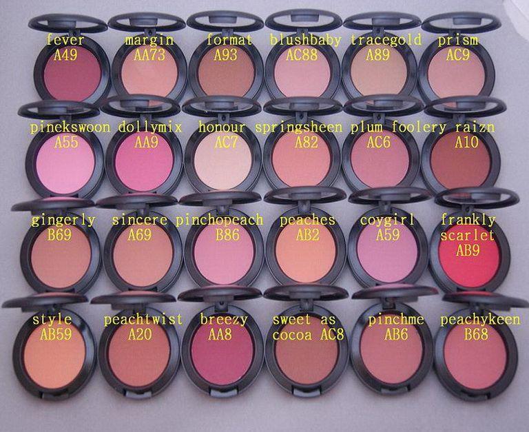 Maquiagem Shimmer Blush Blush Sheertone Fard A joues 6g 24 cor diferente Sem Espelhos Sem Escova