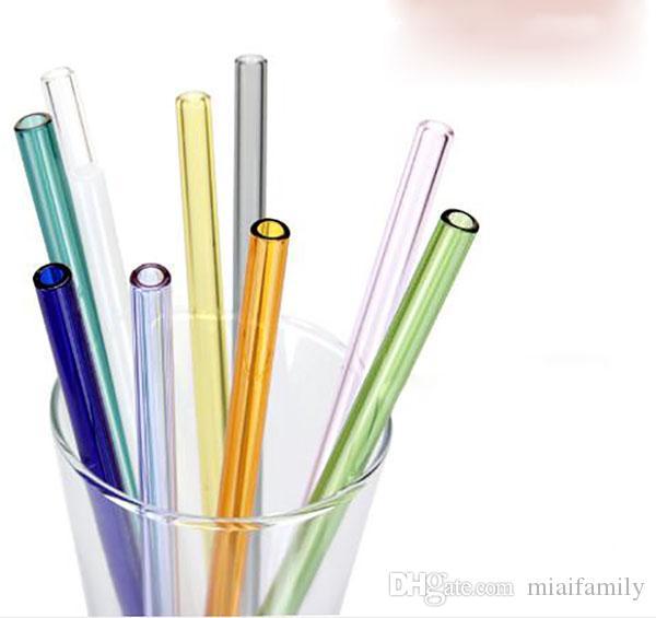 Lip Protecting Glass Drinking Juice Juice Bebidas a prueba de calor de baja emisión de carbono Pack de paja con funda protectora para Home Party Decor DHL gratis