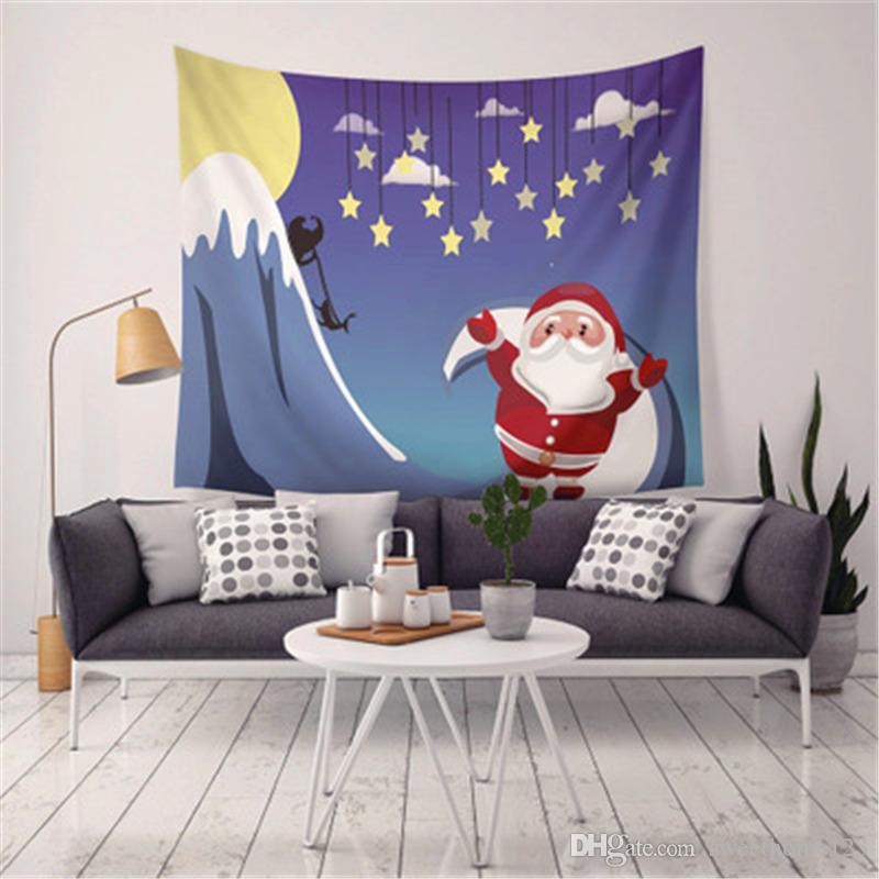 Nueva Llegada 9 Estilos de Navidad Decoración Para El Hogar Tapices Toalla de Playa Manta Camping Sábana mantel con Luz LED Regalo de Navidad Para Niños