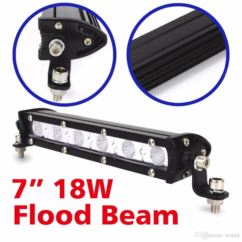 1PC 6 인치 18W LED 워크 라이트 바 자동차 운전 램프 스팟 홍수 램프 12V 24V 작동 램프 트럭 SUV 보트 ATV 4X4 오프로드 4WD