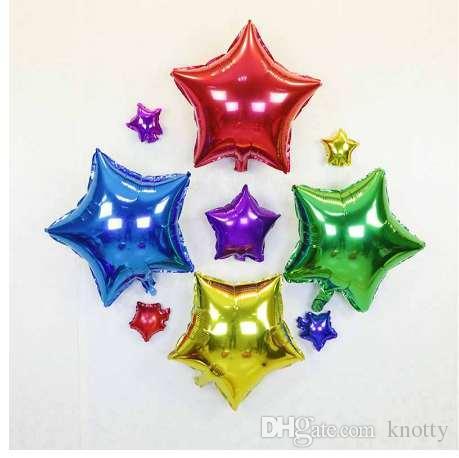 Гелий Воздушный Шар звезды Свадьба Большая алюминиевая Фольга Воздушные Шары Надувной подарок День Рождения Украшение 10 дюймов