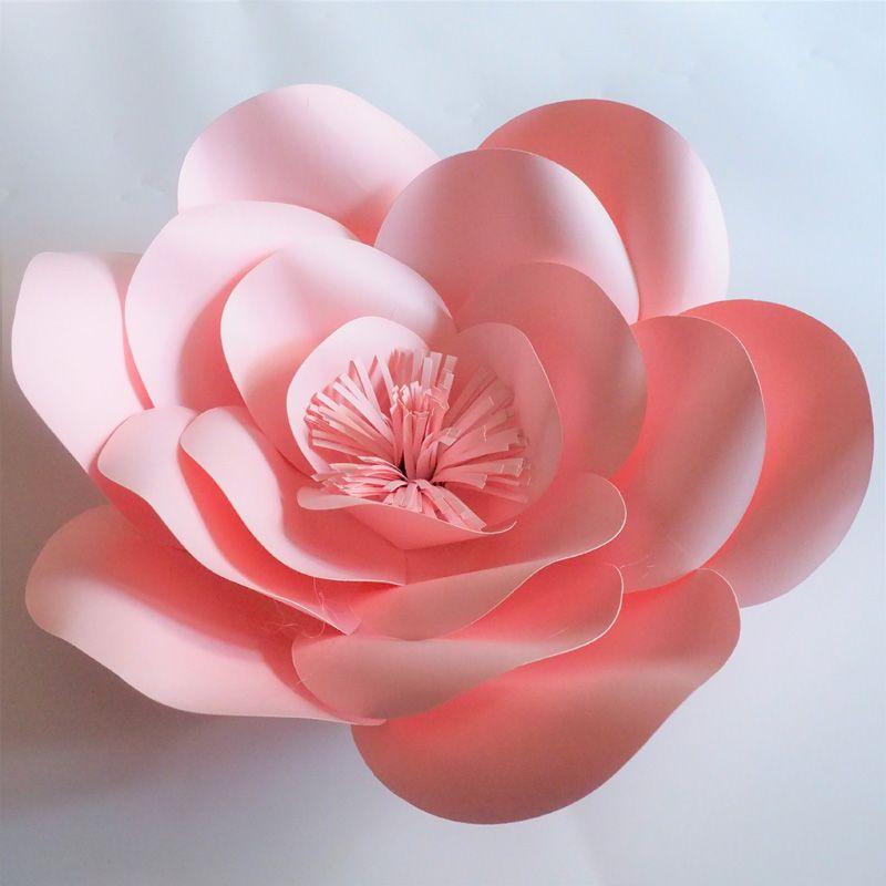 Yarım Yapılmış Dev Kağıt Çiçekler DIY Tam Kitleri Duvar Düğün Parti Süslemeleri Ev Deco Için Sahte Çiçekler (20 cm, 30 cm, 40 cm, 50 cm)