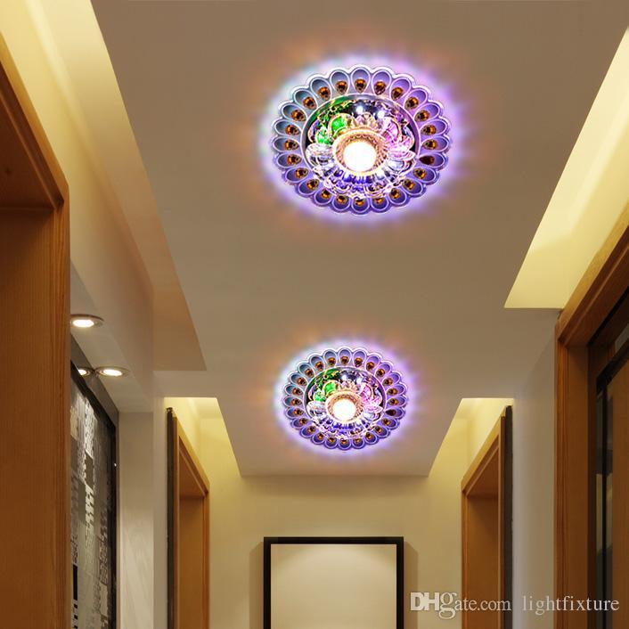 Yeni Renkli 5W LED Kristal Koridor Lambası Modern Koridor Tavan Işık Basit Yaratıcı Giriş Tavan Lambası