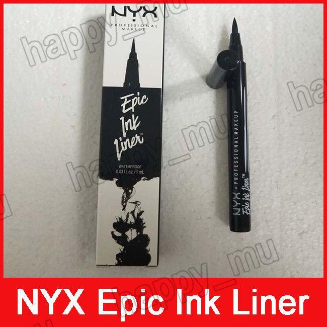 NYX 에픽 잉크 라이너 NYX 블랙 아이 라이너 펜슬 향하고 메이크업 액체 블랙 컬러 아이 라이너 방수 화장품 긴 3001298를 지속