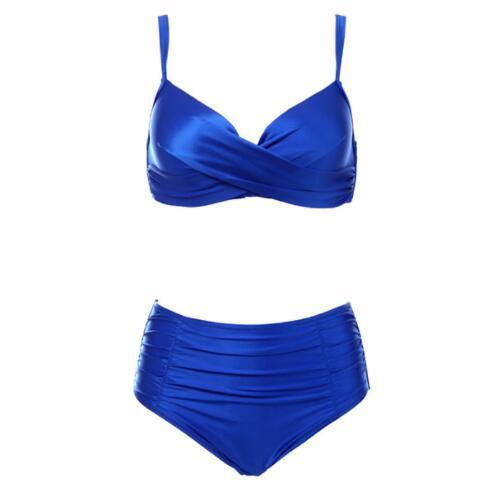 High Waist Bikinis Women Swimwear Summer Solid color high-grade fabric bikini Set Plus Size Swimwear Bathing Suit