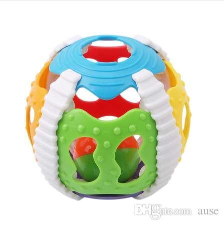 Juguete para bebé Divertido Little Loud Bell Ball Baby Ball Sonajeros de juguete Desarrollar Inteligencia Actividad para bebés Agarrar Juguete Hand Bell Sonajero