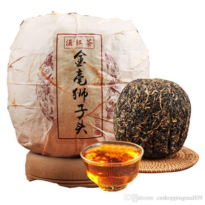 500g Ripe Pu Er thé Yunnan Lion d'or Dianhong cents chef Pu er thé Pu'er organique plus vieil arbre de cuisson des aliments Puer Naturel Noir Puerh Thé