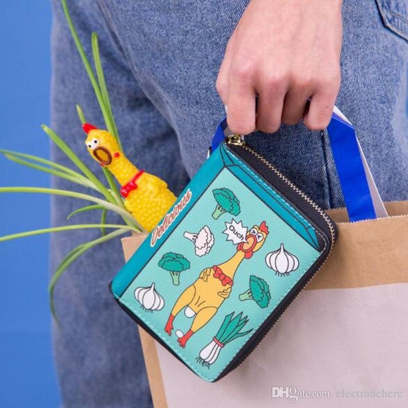 Bentoy Brand Funny Short Leather Women Wallets Cute Cartoon Money Purse Student Mini Bag PU Coin Purse Zipper Bank Card Holders