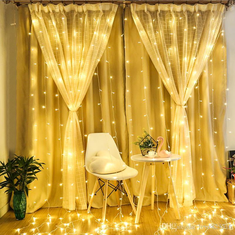 4 * 5 m 640 Ampuller Garland LED Perde Dize Peri Işıklar Tatil Parti Gerlyanda Noel Düğün Için LED Işıkları Süslemeleri