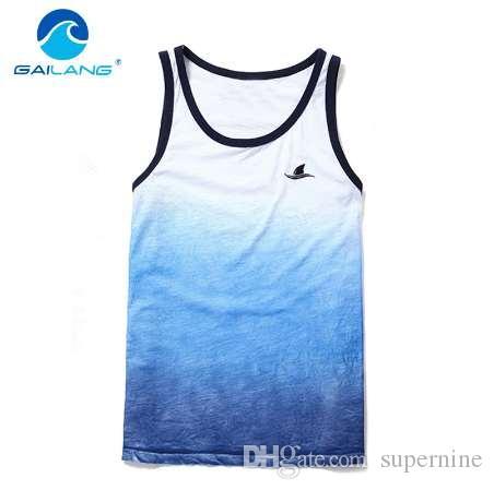 Canotta T-shirt da uomo Gailang senza maniche Canotte Uomini Stringer fitness casuale delle magliette intime Top Tanks muscolari