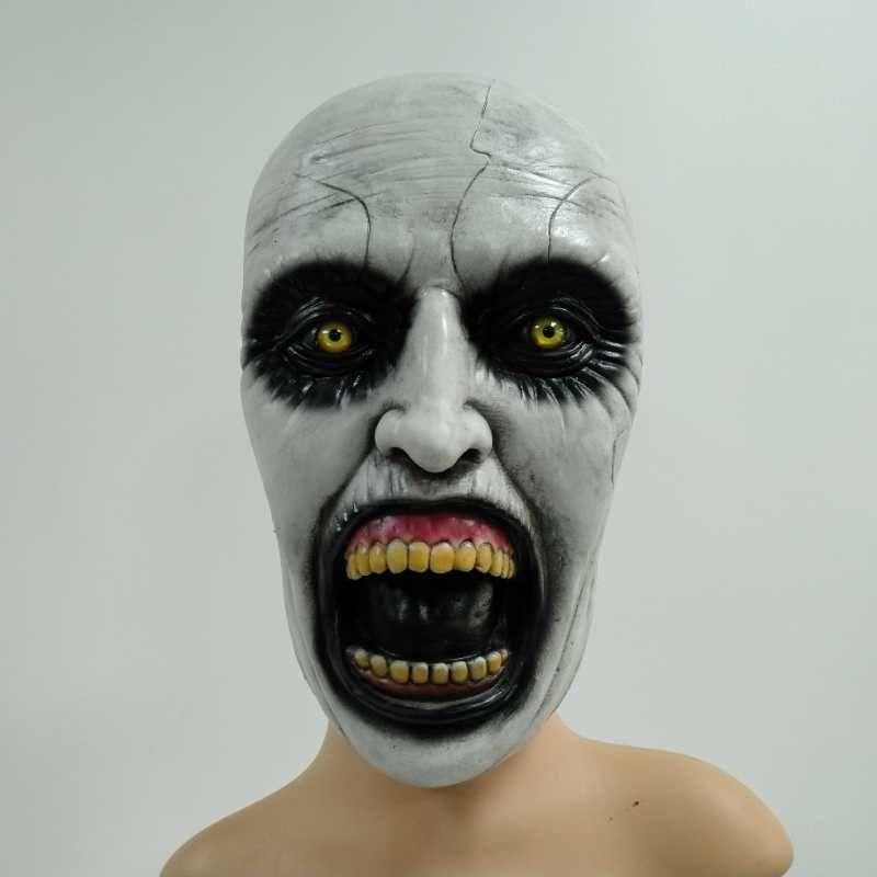 Latex Mask fnt Black Devil Half Mask