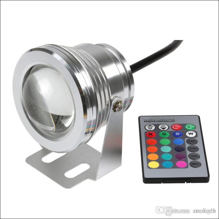 projecteur sous-marin 10W RGB LED lumière sous-marine LED s'allume avec corlor changeant boîtier en aluminium IP68 pour fontaine etc environnement humide