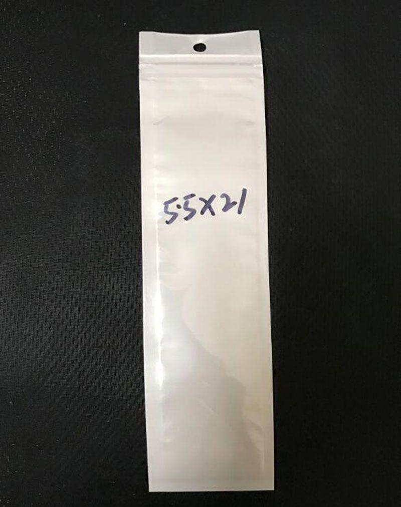Длинный стиль 5.5*21 см ясно / белый Reclosable клапан молния пластиковая розничная упаковка сумки молния сумка для хранения пакет ж / повесить отверстие