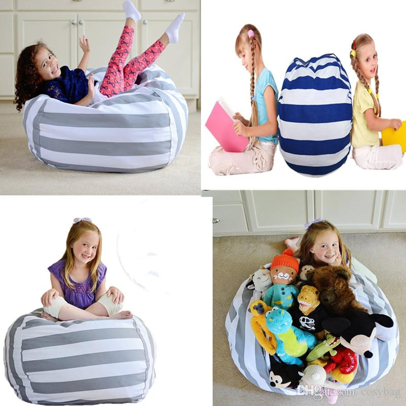 Tremendous Stuffed Animal Storage Bean Bag Chair Soft Stool Leisure Sofa Portable Kids Toy Organizer Play Mat Clothes Home Organizers Canada 2019 From Cosybag Theyellowbook Wood Chair Design Ideas Theyellowbookinfo