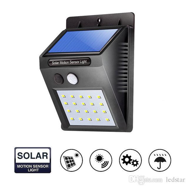 12 16 20 LED Solar Power PIR Motion Sensor Wall Light Outdoor Waterproof Street Yard Path Home Garden Security Lamp Energy Saving
