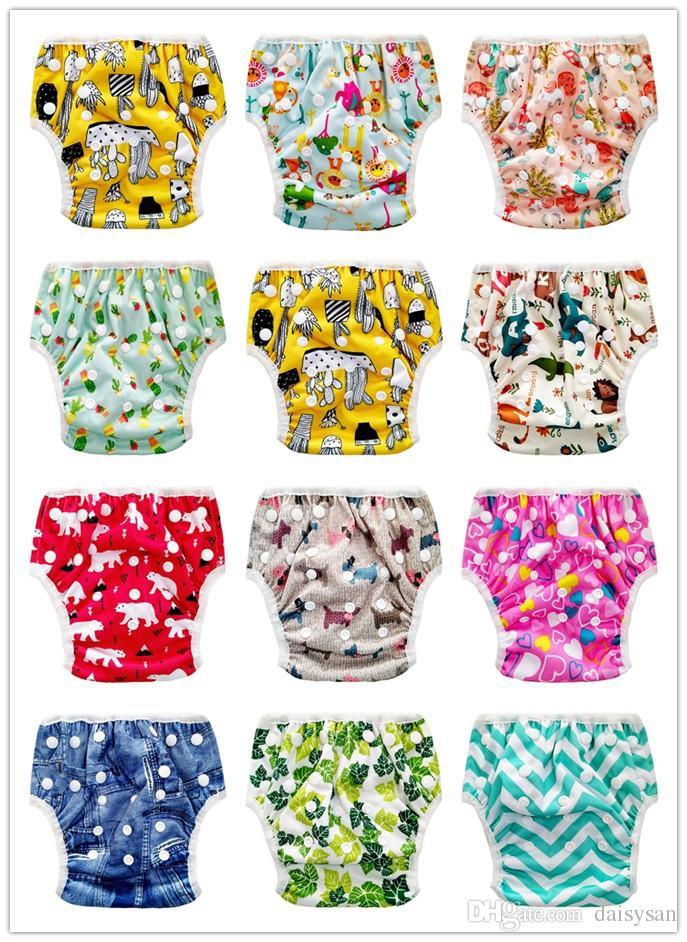 Yüzme Bezi Yıkanabilir Bebekler Bezleri Kapak Bebek Mayo Ayarlanabilir Yüzmek Bezi Kapak Pantolon Kullanımlık Bebek Mayo