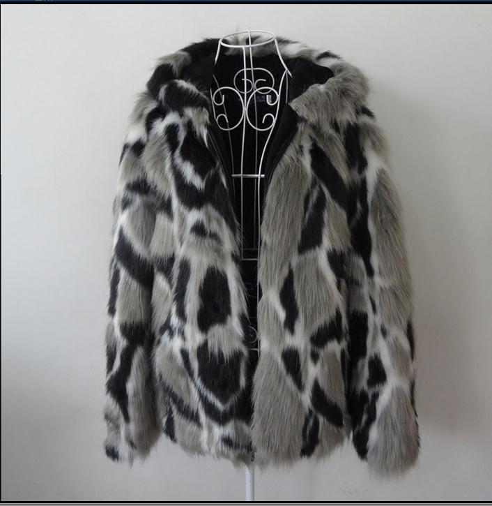 도매 - 남성 겨울 가을 모조 밍크 코트 후드 대형 남자 가짜 모피 코트 믹스 컬러 망 S / 5Xl 모피 코트 J1648-10 의류