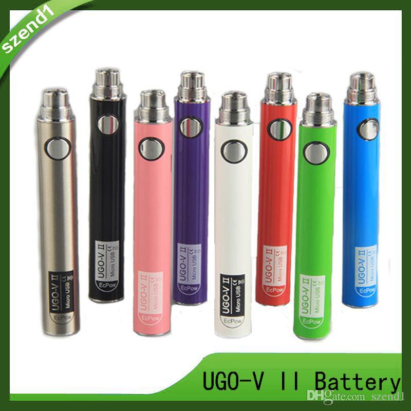 UGO V II 650mah 900mah EVOD ego 510 بطارية مايكرو USB شحن سريع مع كابل USB مبخر E-cigs O pen