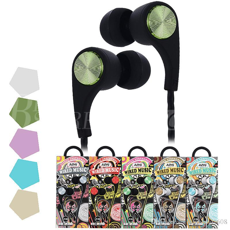JY-359 Earphone Earphones Headphones Earbuds Headset For iPhone Samsung Phone In Ear wired With Mic 3.5mm With RetailBox