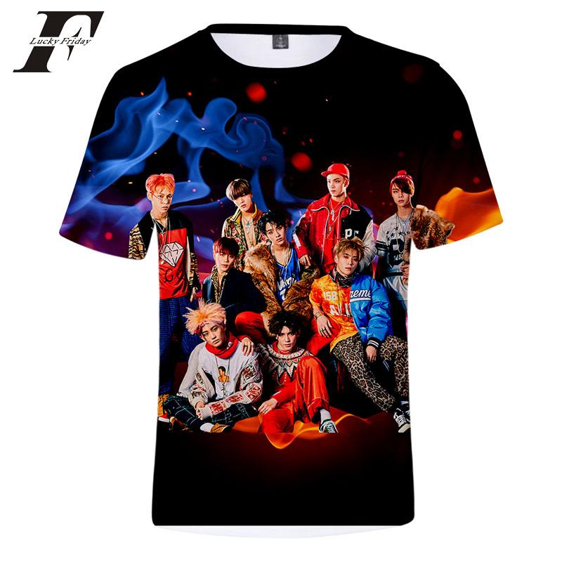2018 Nuovo NCT 3d T Shirt donna uomo Estate Hipster hit hop Manica Corta harajuku Tee Tops NCT maglietta T-Shirt Homme plus size