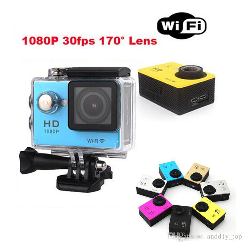 10pcs SJ4000 1080P HD pleine action appareil photo numérique Sport 2 pouces écran avec 30M étanche DV Enregistrement Mini Sking vélo Photo Video Cam