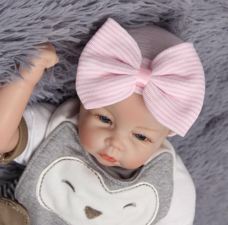 신생아 사진 소품 아기 모자 큰 활 뜨개질 어린이 모자 가을과 겨울 귀여운 아기 모자 5 색