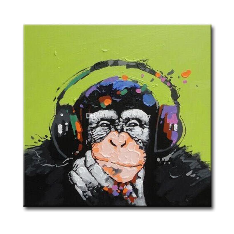 Verzierte abstrakte Bild-Kunst-Farben auf Segeltuch-handgemaltem Tierölgemälde für Sofa Wall Decoration No Frame