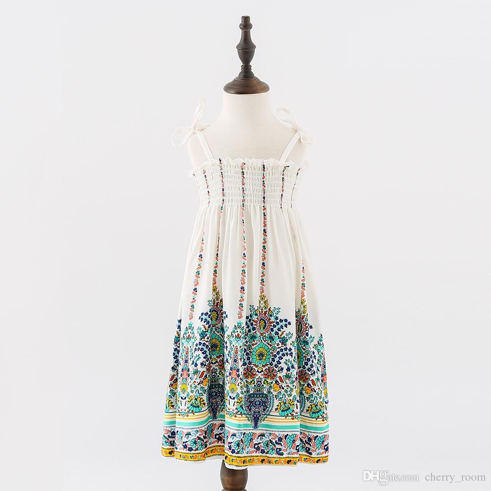 Großhandel 2018 Neue Mädchen Kleid Sommer Große Kinder Kleider ...