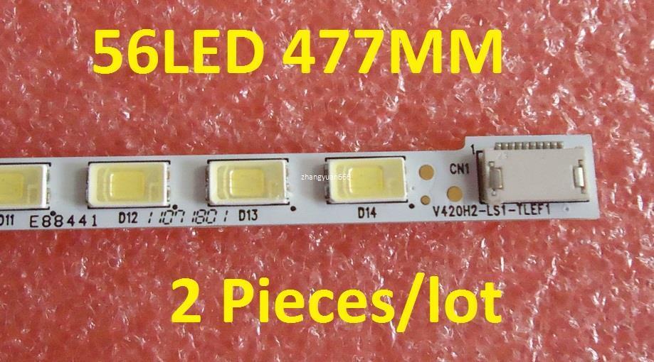 """Livraison gratuite 42 """"T87D159.00 LED42K16X3D V420H2-LS1 Bande à LED V420H2-LS1-TLEF1 V420H2-LS1-TREF1 56LED 477MM 2 pièces / lot"""