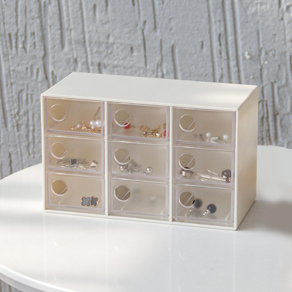 Mini Cassettiera Fai Da Te acquista mini cassettiera gioielli con 9 cassetti artigianato scatola di  immagazzinaggio perni di capelli clip contenitore ufficio scatola di