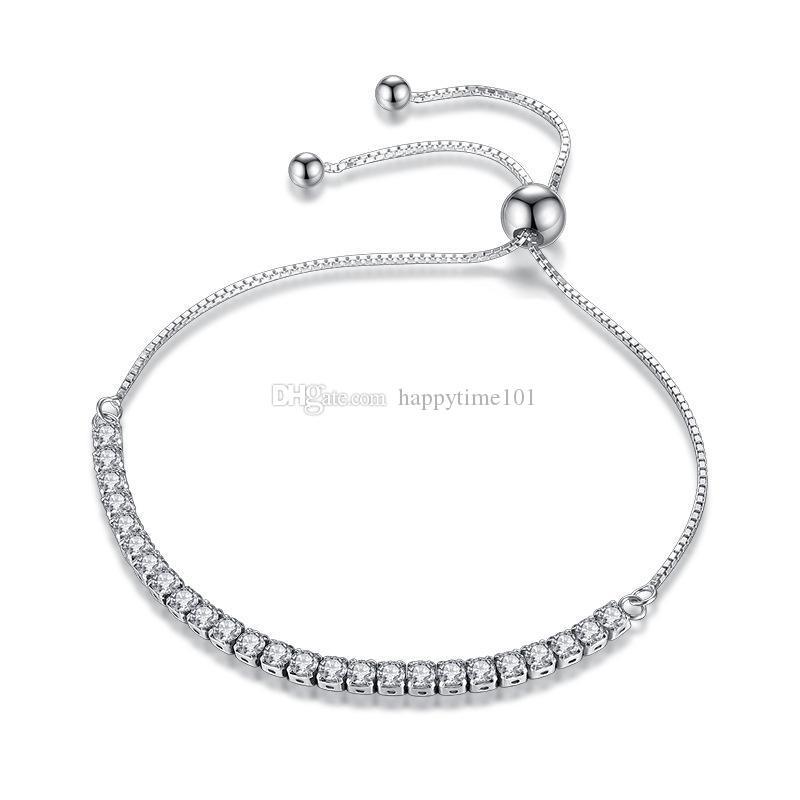 Bracciale tennis da sposa bracciali donne braccialetto zirconi 925 placcato donne a braccialetti dei monili signora