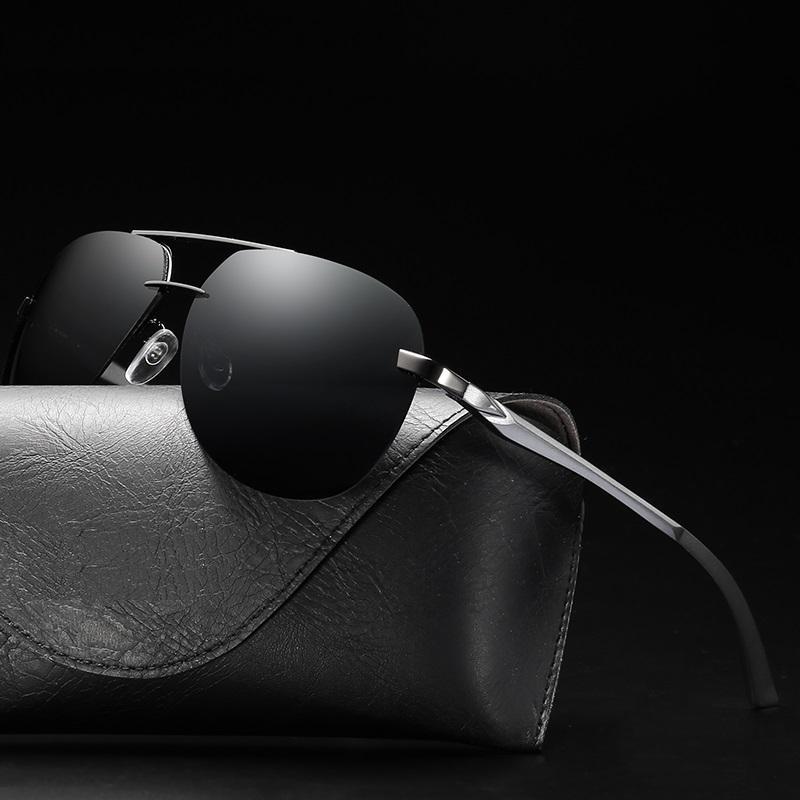 High quality brand new designer men & women's eyewear HD TAC polarized UV protection polaroid half frame Sunglasses 8 colors ourdoor driver