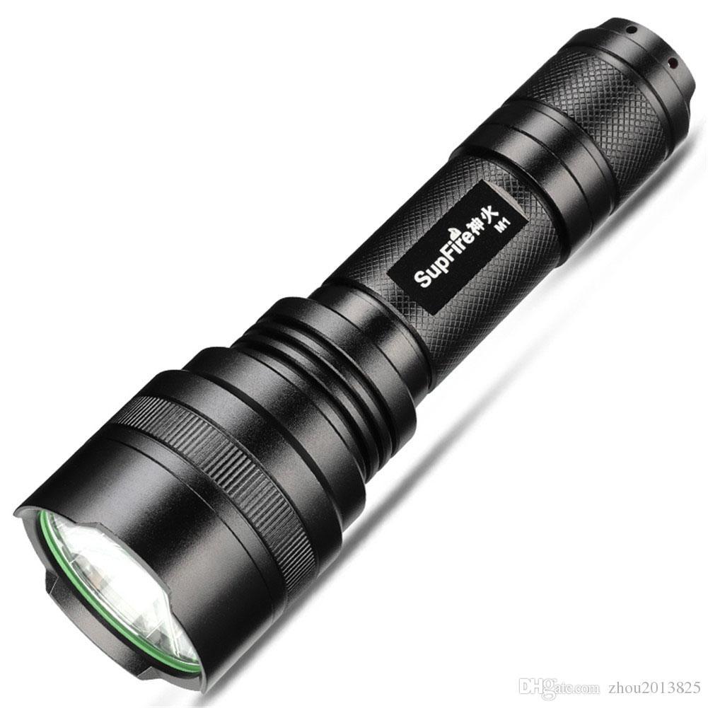 Şarj edilebilir 300 Lümen LED El Feneri, Su Geçirmez, 5 Modu Kamp için Süper Parlak Torch, 18650 Pil ve USB Kablosu Dahil