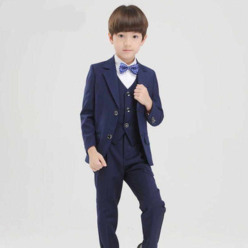 Yeni sıcak erkek moda yakışıklı takım elbise erkek takım elbise üç parçalı takım elbise (ceket + pantolon + yelek) boy dans mezuniyet töreni elbise