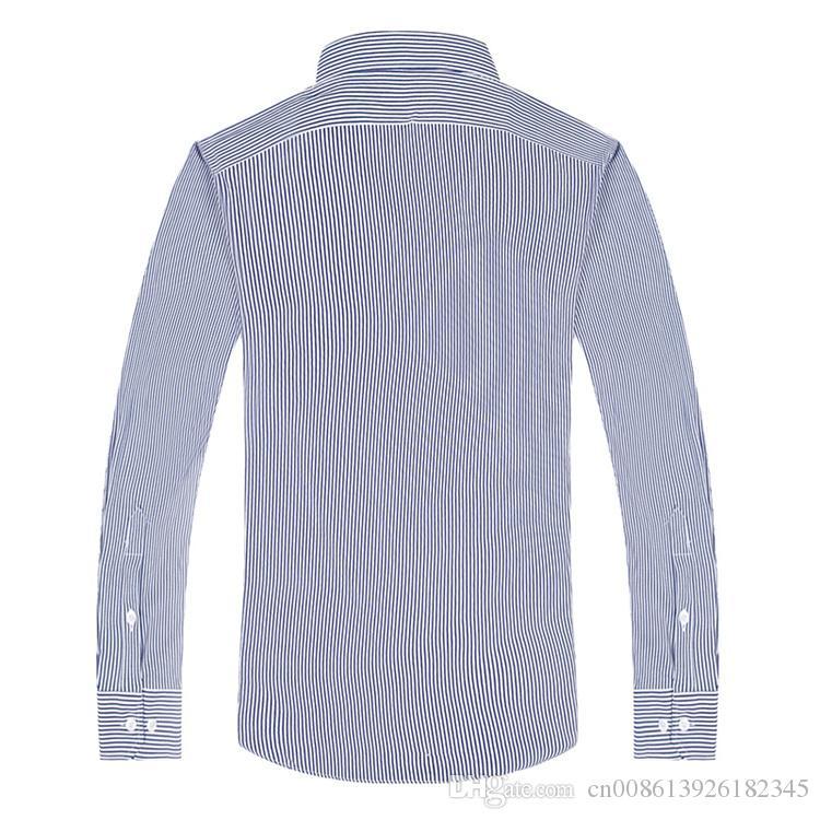 Maglietta degli uomini 2019 camicia degli uomini nuovi turndown Collar Dress Fashion Camicia di cotone Premium manica lunga fit slim