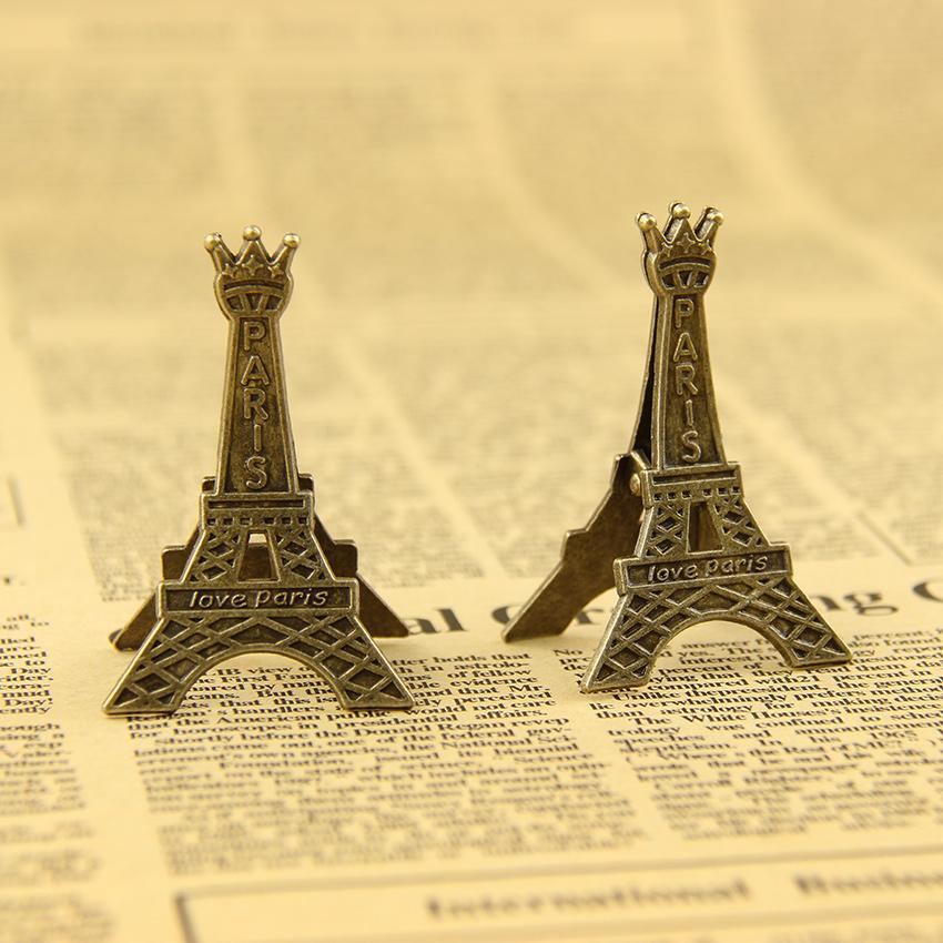 1PC 5.5cm Creative Eiffel Tower Clips Bookmark Memo Metal Clip for Office Stationery Supplies