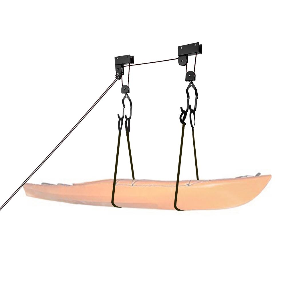Support Velo Au Plafond acheter 125 lb capacité de levage kayak treuil de garage garage montage au  plafond canoë canne À bateau système de poulie ascenseur de vélo garage