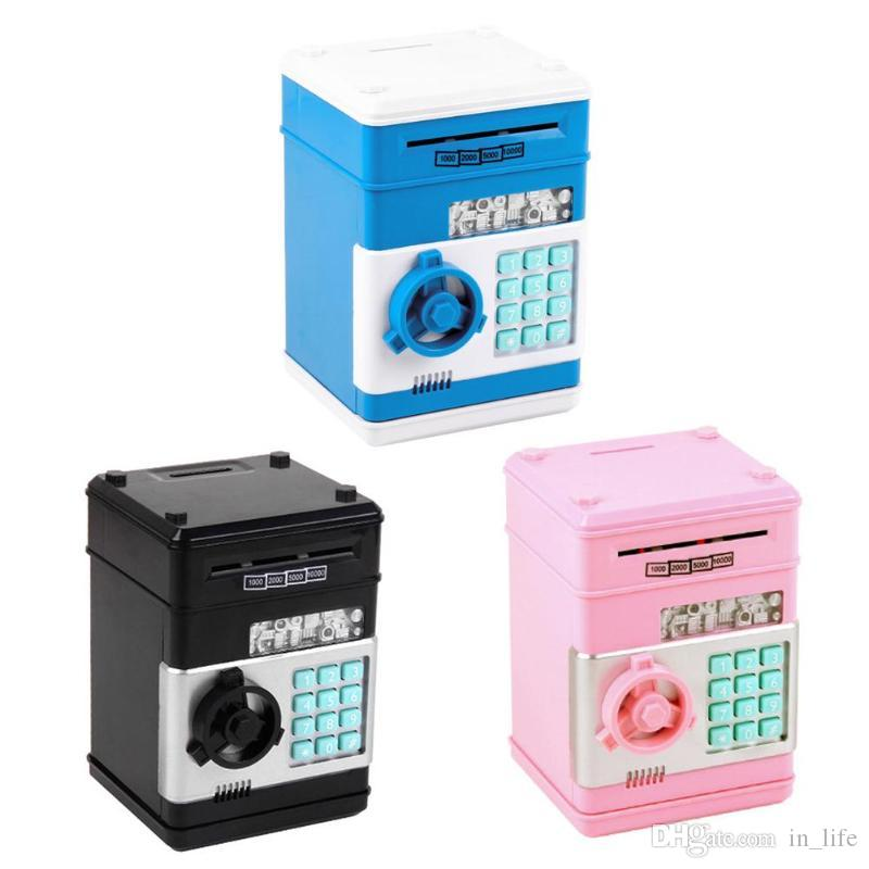 HOT ATM Money Box Electronic Password Chewing Coin Cash Deposit Machine