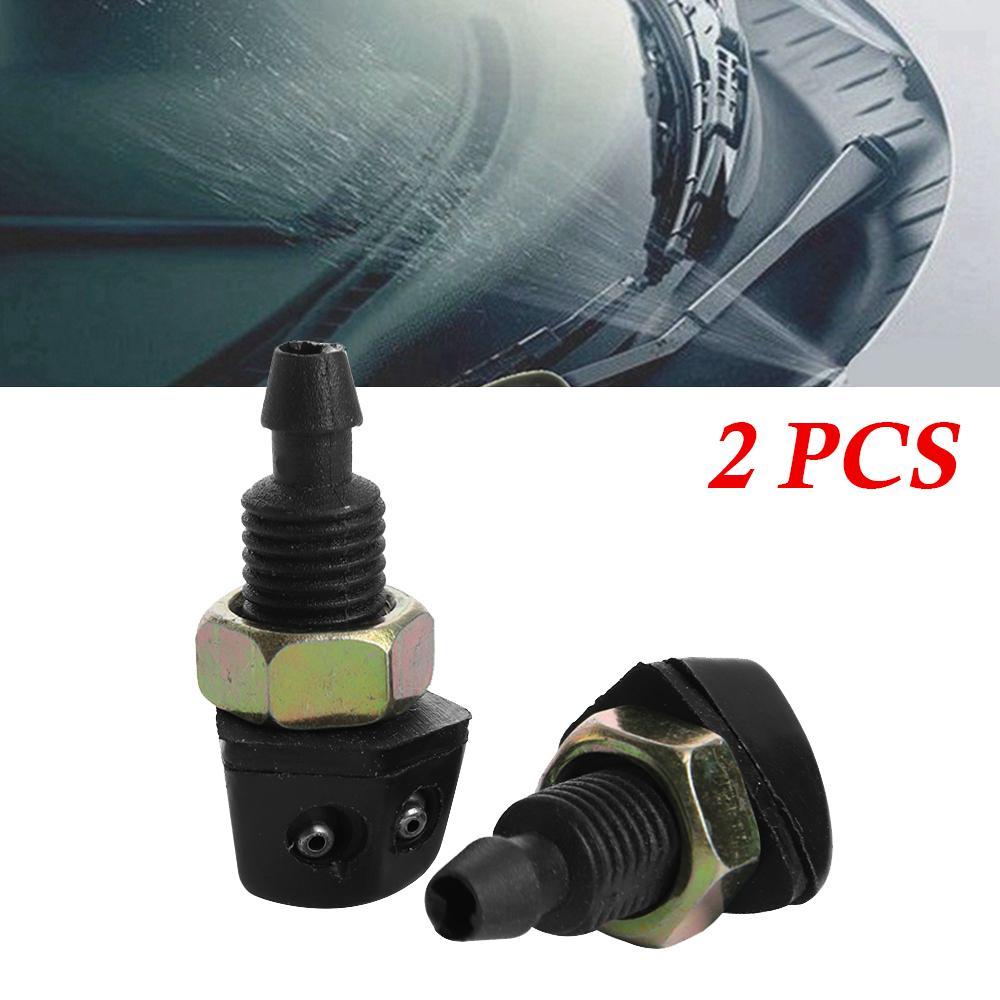 2 Stücke Auto Scheibenwischer Sprayer Düse Schwarz Kunststoff Universal Auto Fahrzeug Frontscheibenwascher Spray Düse Hohe Qualität