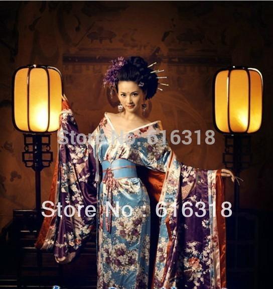 Compre Conjunto De Ropa De Fotografía De Vestuario Sexy Clásico Exótico Japonés Kimono Mujeres Vestido Cinturón Sin Mochila Kimono A 10452 Del