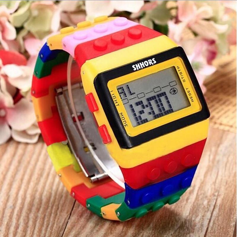 Unissex coloridas senhoras relógio de pulso Digital relógios topo Hodinky relógio de forma vestido Ladies Bracelet