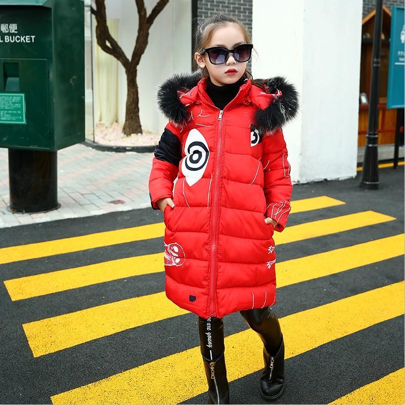 Adolescentes 2018 Nouveau Noir Rouge Épais Manteau Vêtements D'hiver Costume Pour Taille 6 7 8 9 10 11 12 13 14 Ans Enfant Casual Down Vestes