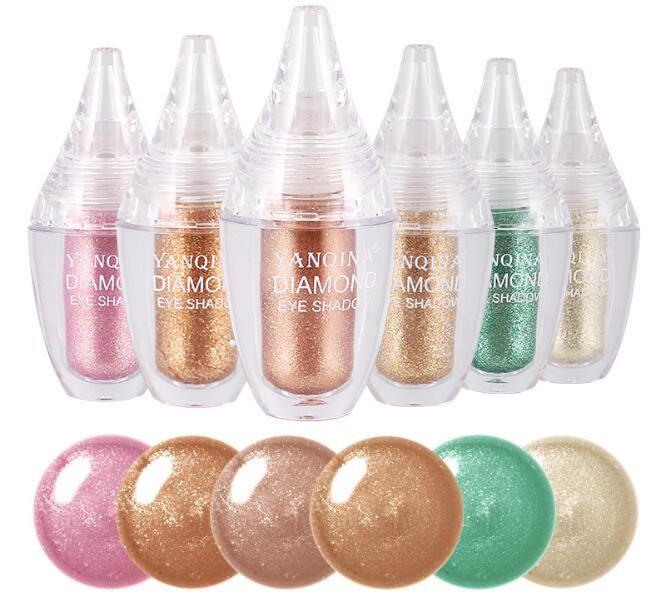New HOT YANQINA Makeup Beauty 6colors shimmer glitter liquid eyeshadow High Quality DHL shipping