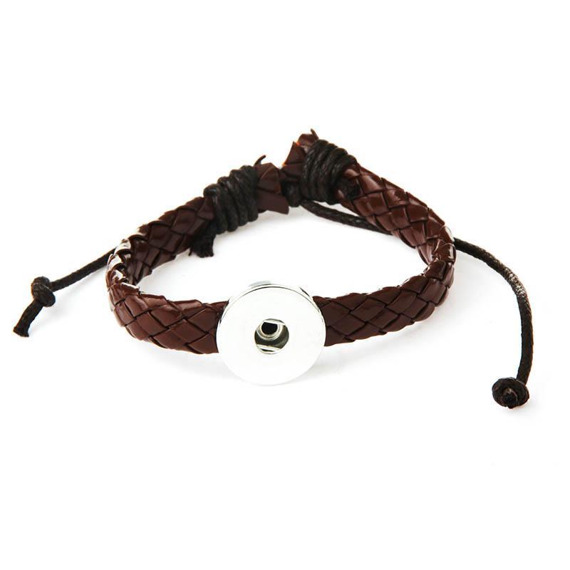 charm leather bracelets 18mm snap button DIY Metal Snap Button Bracelet Watches watchband TZSZ8
