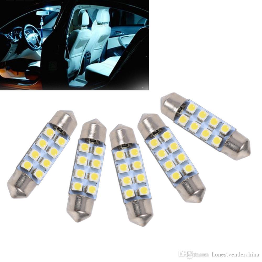 20 / Set 36MM 31mm 39mm 41mm 8LED 1210/3528 SMD lámpara de la lámpara del bulbo del adorno blanco Auto Car Styling