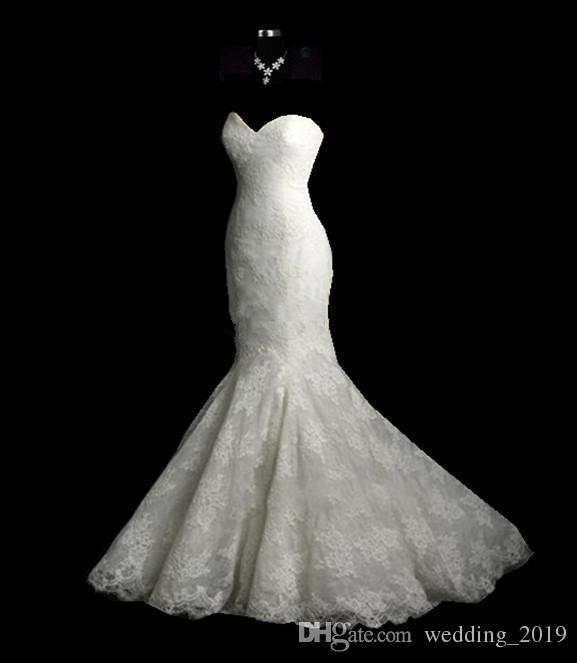حفلات الزفاف الأحداث مثير جديدة أزرار سستة الظهر، والشارات الدانتيل الأبيض حقيبة ذيل السمكة الأرداف الذيل، زفاف، XL يمكن تخصيص، والبريد رخيصة
