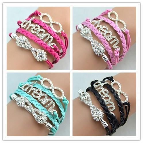 diamants anciens populaires bracelets Dream Dream Infinity avec livraison gratuite